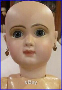 Antique C1890 20 French Bisque Bebe Jumeau Doll withStraight Wristed Body