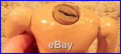 Antique C1890 RARE 9 Fully Jtd Compo Body for Bisque Doll, Hard to Find Size