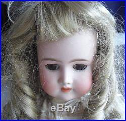 Antique CM Bergmann Halbig Germany Bisque Composition Girl Doll 24 Tall