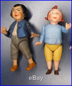 Antique Character Figurines Dolls Dollhouse Germany Bisque Max & Moritz jointed