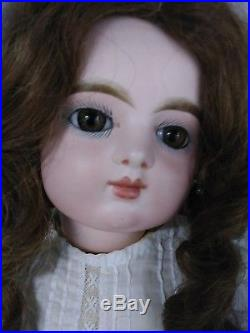 Antique Closed Mouth 19 FG Scroll Mark French Bisque Doll
