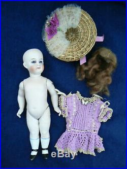 Antique Closed Mouth All Bisque Jullien Jeune French Mignonette Doll 8.5