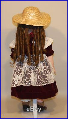 Antique Closed Mouth Jumeau Bebe 13 French Bisque 28 Inch Doll with Marked Shoes
