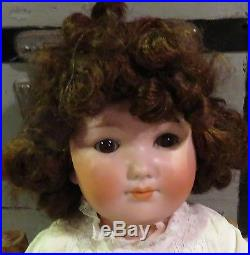 Antique Closed Mouth Rare German Bisque 19 LS&C Baby Peggy Character Doll