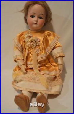 Antique Cuno & Otto Dressel Bisque & Composition 22 Doll Teeth 1912-4 Germany