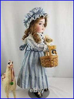 Antique Doll German Kestner 167 Bisque Head Brown Eyes 21 inches Jointed Body