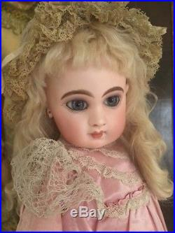 Antique E8J Jumeau Bebe French Doll 19 IN Pressed Bisque Antique Costume