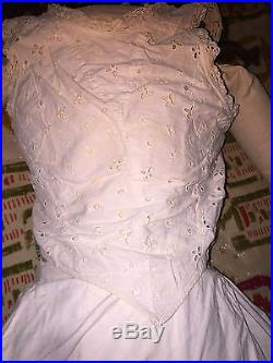 Antique Edwardian Victorian Life-Size Store Display Fulper Bisque Doll 53 Tall