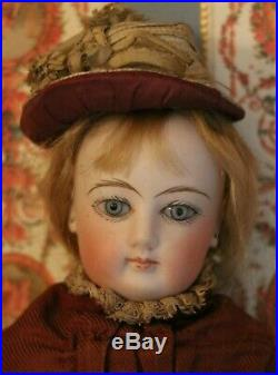 Antique FG French Fashion Poupee 15 IN 1870's Antique French Bisque Doll