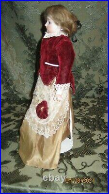 Antique Francois Gaultier F. G. Scroll French Fashion Doll Kid Body Bisque Arms