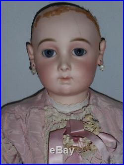 Antique French Baby Doll Bisque Head Emile Jumeau Triste Sad Tristed Long Face