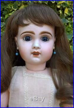 Antique French Bebe Jumeau Bte S G D G Depose Size 11 Bisque Head Doll 24 c1890