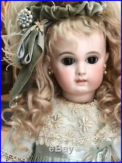 Antique French Bebe number Over EJ Jumeau. Rare Early Beauty. Wow Doll