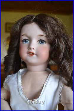 Antique French Bisque Doll 18 Composition Body