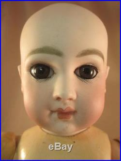 Antique French Bisque Doll Incised Depose 5Jumeau Bebe Straight Wrists 14