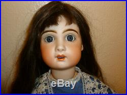 Antique French Bisque Doll Unmarked, open mouthed, possibly Bebe Jumeau