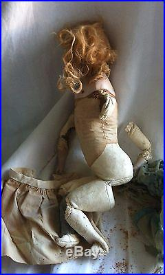 Antique French Bisque Fashion Doll Solid Dome