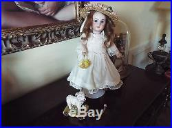Antique French Bisque Head Doll, Marked Dep With Stamped Bebe Jumeau Body, 14