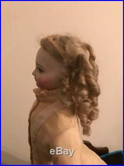 Antique French Bisque Jumeau Fashion Doll Attic Find Beautiful Wig with Damage