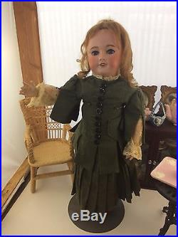 Antique French Doll UNIS FRANCE 301 10 Bisque Head Composition Body 24