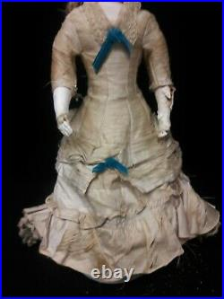 Antique French Fashion Doll by Jumeau, Original Wig and Clothing