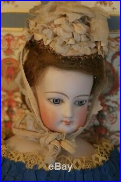 Antique French Fashion Poupee 16 IN Antique French Fashion Doll Beautiful Gown