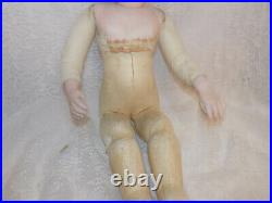 Antique French Jumeau Triste Bebe Doll Head Bru Body TLC