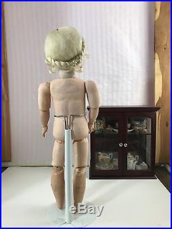 Antique French Market Bisque Head Doll Composition Body
