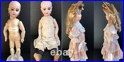 Antique French Tete Jumeau Bebe Doll with Crier Original Shoes