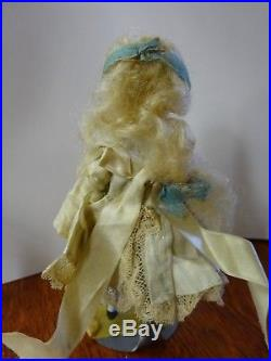 Antique French Type All Bisque Dressed Doll 4 1/2 Marked #1 Swivel Neck, Strung