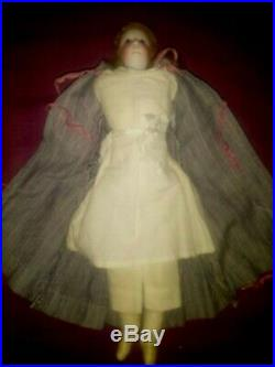Antique French bisque little fashion doll (period Jumeau, Gaultier)