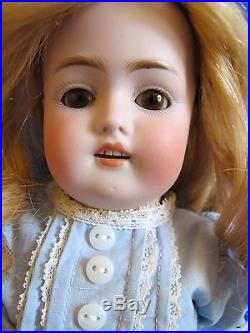 Antique GERMAN Kestner, 168, Child Doll, Human Hair Wig, Flawless Bisque, C 1892