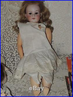 Antique German Armand Marseille #390 A9M 27 Doll Bisque Composition Body