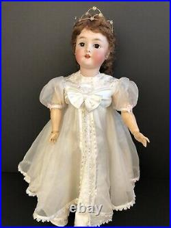 Antique German Armand Marseille Queen Louise Bisque Head Doll