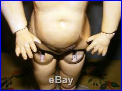 Antique German Bisque Character Heubach Doll 17 Near Mint