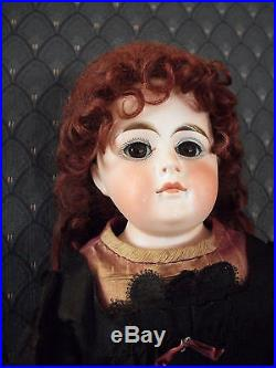 Antique German Bisque Doll-BeltonHead -closed mouth lady-19 inch