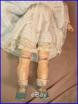 Antique German Bisque Doll Rare HEUBACH Smiling Character Girl All Original 18
