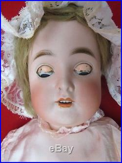 Antique German Bisque Head 24 Queen Louise Doll Composition Body