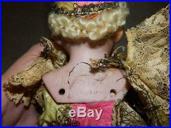 Antique German Bisque Head Armand Marseille Jester Marionette on Stick Toy Doll