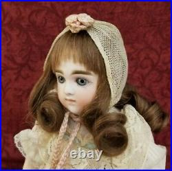 Antique German Bisque Head Doll Early Kestner Moon Face Mold Org Body Wig Pate