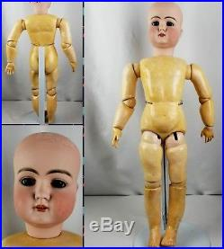 Antique German Bisque Head Doll Early Mold 79 Org Body 24 Elegant HTF Handwerck