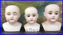 Antique German Bisque Head Doll Lot of 10 For One Price Restoration Or Parts