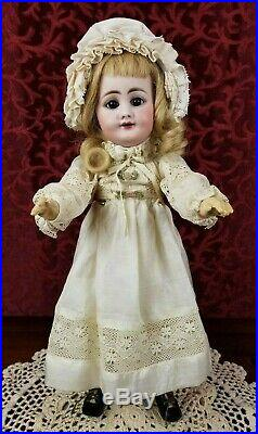 Antique German Bisque Head Doll RARE Simon Halbig 759 Jointed Body Cabinet Size