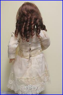 Antique German Bisque Head Doll by Simon Halbig #1078 21 tall