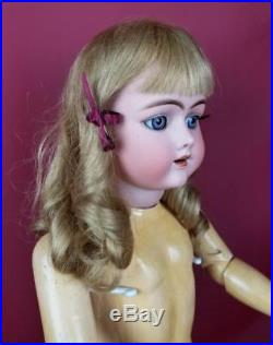 Antique German Bisque Socket Head Doll Handwerck 109 DEP Jointed Body French Wig