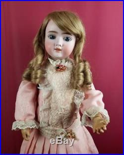 Antique German Bisque Socket Head Doll Max Handwerck Marked Body 24 Beautiful