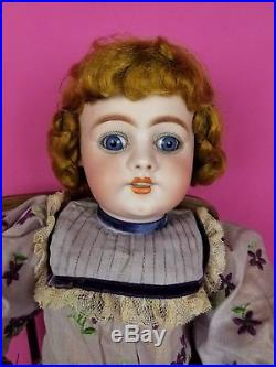 Antique German Bisque Socket Head Doll Simon Halbig 1009 Gorgeous 24 REDUCED