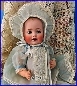 Antique German Character Solid Dome Bisque Doll 1910 Baby Jean by Kestner