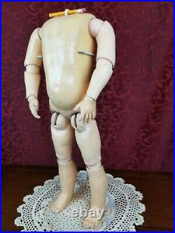 Antique German Doll Body For Socket Bisque Doll Head MARKED Handwerck Jointed