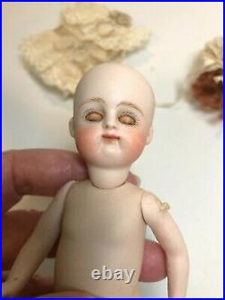 Antique German Early Pouty Kestner All bisque Doll, 5 3/4